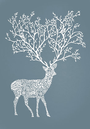 FLORAL STAG