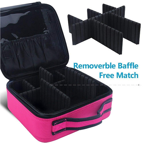 Pro Series: Cosmetic Travel Case ( Hot Pink & Black )