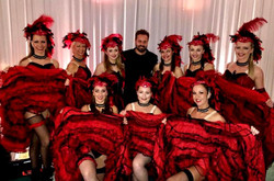 The girls performing at a corporate event with Alfie Boe