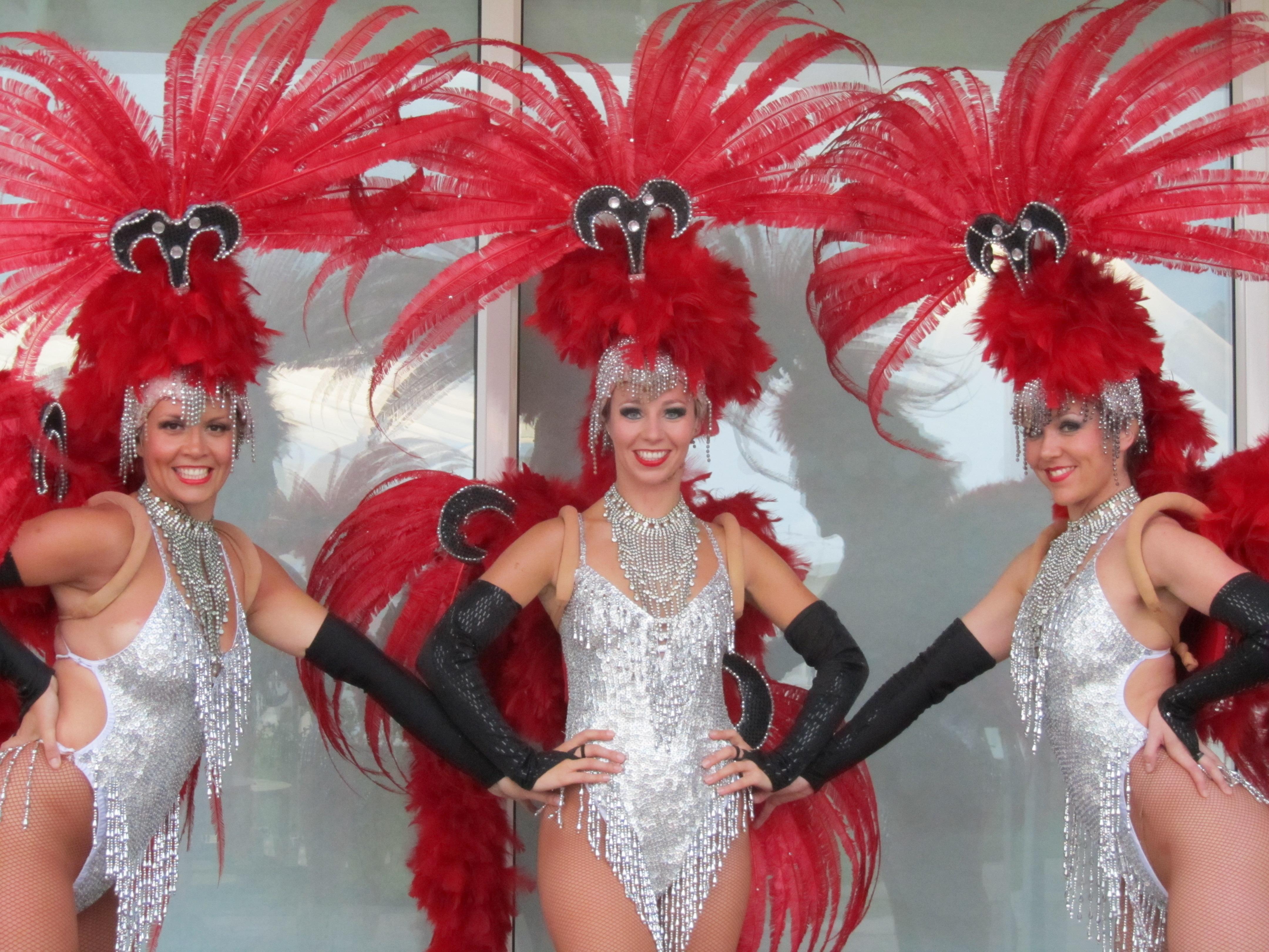 Las Vegas styled showgirls