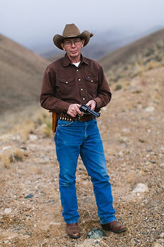 John Linebaugh, custom gun maker, old school gunologist, photo credit Guytano Magno