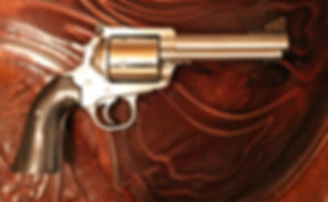 45 conversion, Linebaugh Custom Sixguns, ebony pistol grips by PJ Nelson