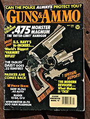 John Linebaugh, custom gun maker, cover story guns and ammo .475 caliber hand gun