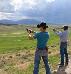 shooting buffalo at 1000 yards, Big Bore Six Gun Shoot, Monster Lake Ranch, Cody Wyoming, John Linebaugh Custom Sixguns