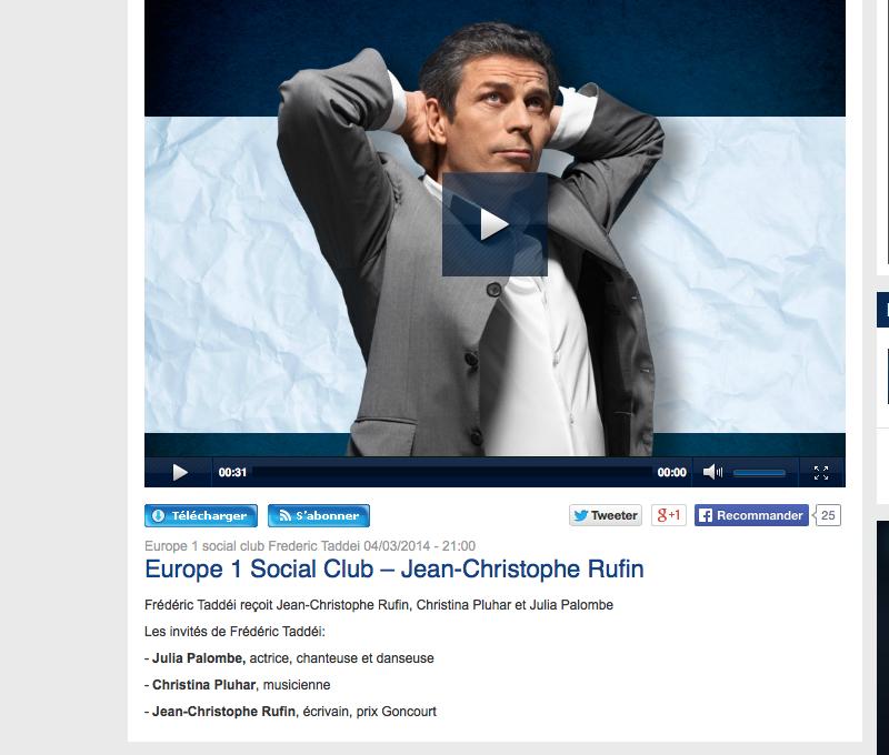 EUROPE 1 Social Club Frédéric Taddéi