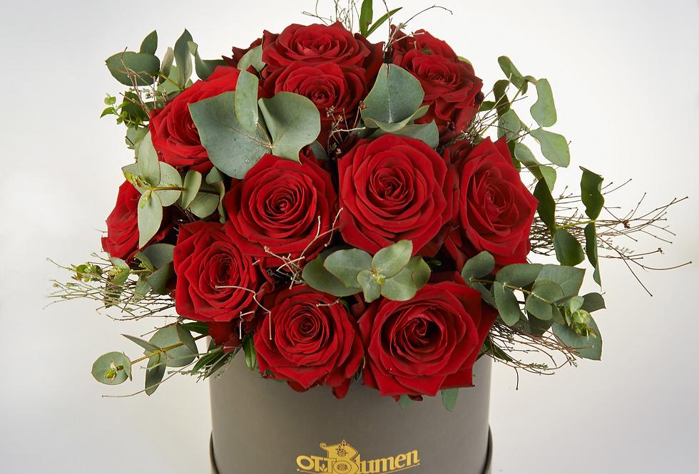 Rosenbox mit Frischblumen