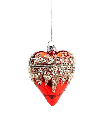 Winter Wonderland Collection- glass heart ornament