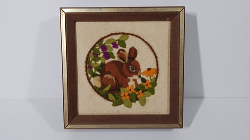 Woodlands Collection- Bunny Crewel Needlepoint