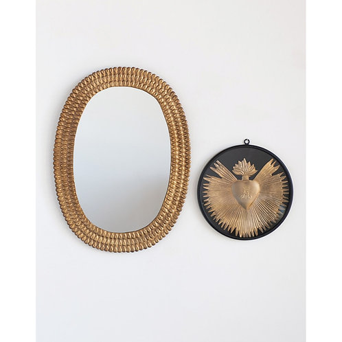 Pinecrest Collection - gold embossed wall mirror
