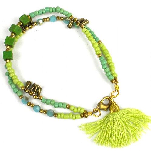 Miami Collection - dragon's eye green bracelet