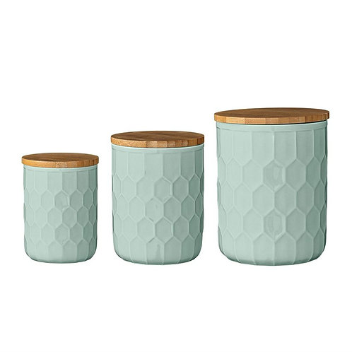 Riviera Collection- honeycomb storage jars