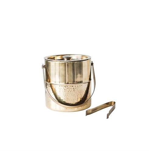 Delray Collection- brass ice bucket & tongs