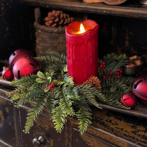Winter Wonderland Collection- hemlock & honeylocust holiday wreath