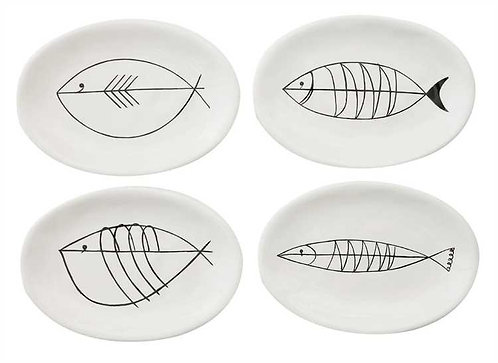 Pompano Collection- modern fish plates