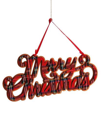 Winter Wonderland Collection- plaid ornament