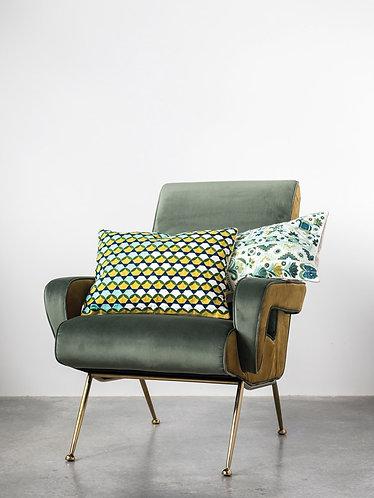 Palmetto Collection- mid-century modern throw pillow