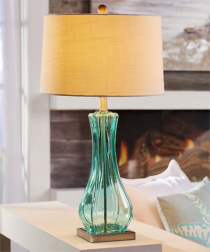 Palmetto Collection- teal glass table lamp