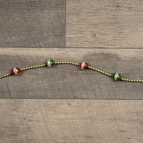 Holly Jolly Collection- red and green striped holiday garland