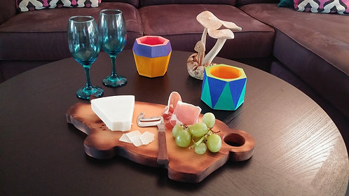 Pompano Collection- wood hog serving boards
