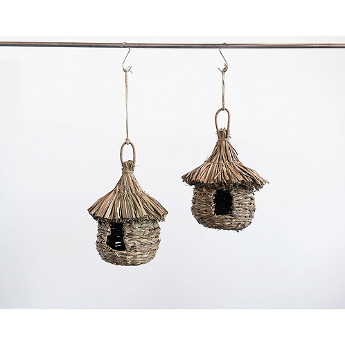 Palmetto Collection- straw & rattan birdhouse