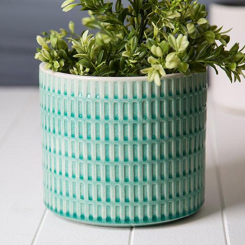 Palmetto Collection- crackle glazed ceramic planters