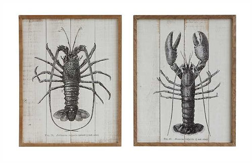 Pompano Collection- lobster wall art