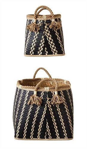 Sanibel Collection- black woven baskets