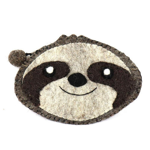 Forest Collection- sloth felted coin purse