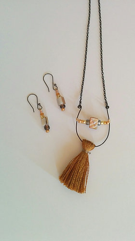 Sun and Moon Collection- Moonrise necklace and earrings