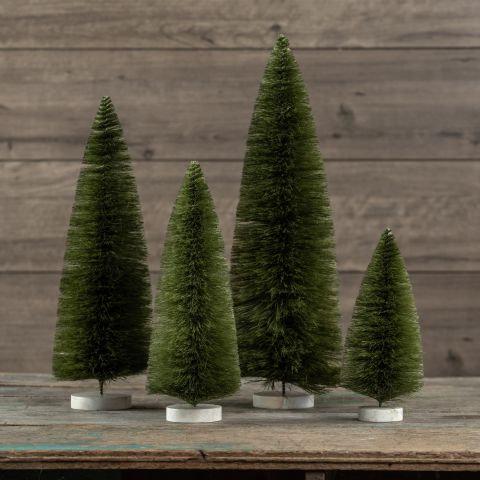 Winter Wonderland Collection- moss green bottlebrush trees