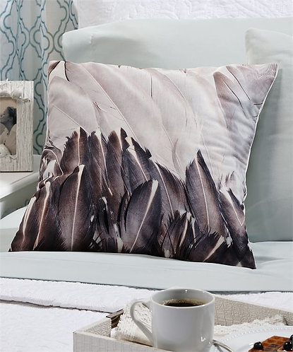 Biscayne Collection - feather print throw pillow