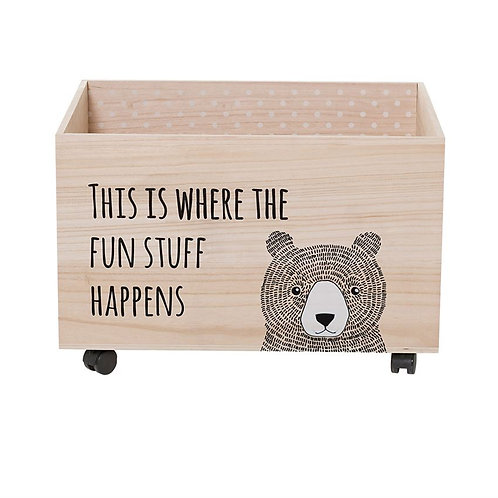Forest Collection - rolling toy box