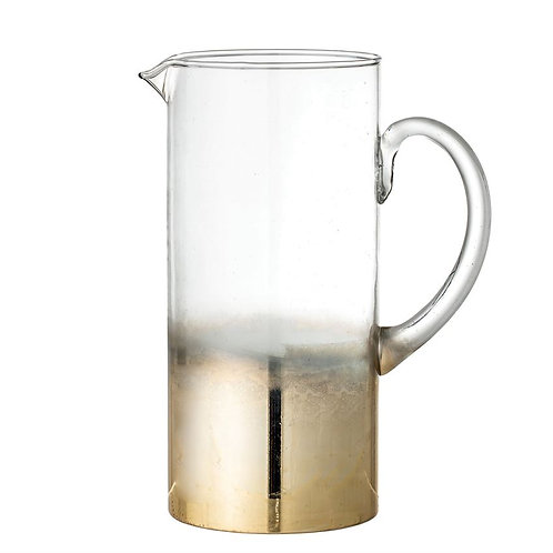 Delray Collection- gold ombre glass water pitcher