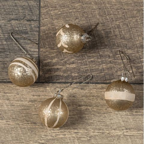 Holly Jolly Collection- champagne glass ball ornament set