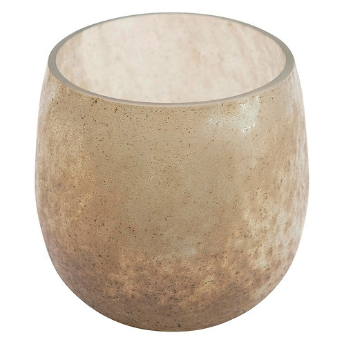 Tequesta Collection- frosted iridescent glass tea light holder