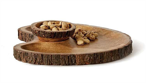 Redlands Collection- mango wood chip & dip tray