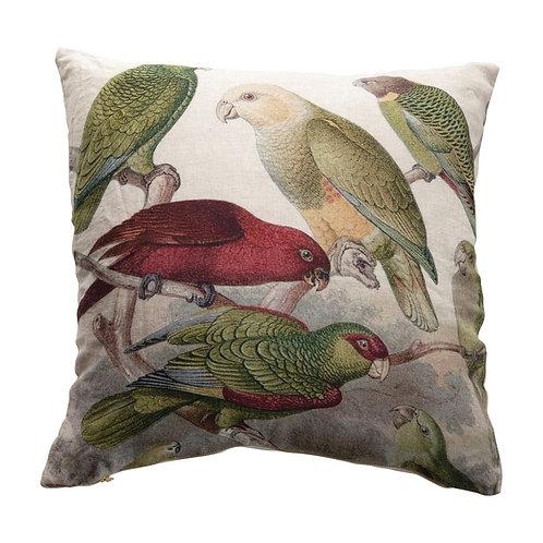 Palm Beach Collection- parrot throw pillow