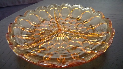 Rivera Collection- Vintage gold glass candy dish