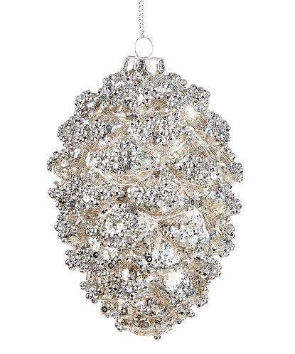 Winter Wonderland Collection- glass pine-cone ornament