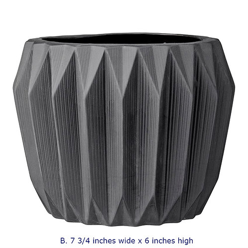 Delray Collection- matte grey geometric vases