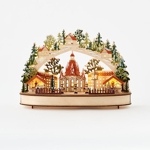 Nordic Collection- illuminated Bavarian market decor