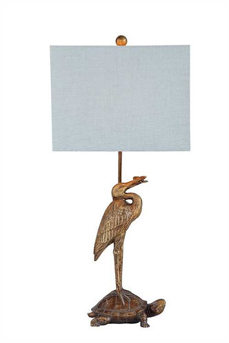 Sanibel Collection- gold heron lamp