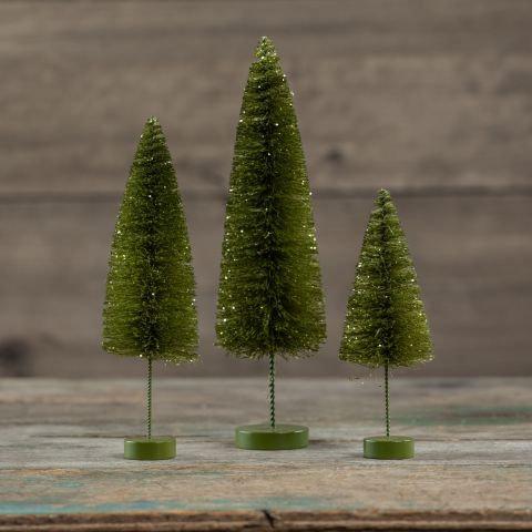 Winter Wonderland Collection- emerald bottlebrush trees