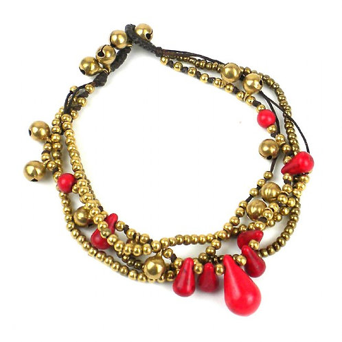 Miami Collection - ruby red anklet