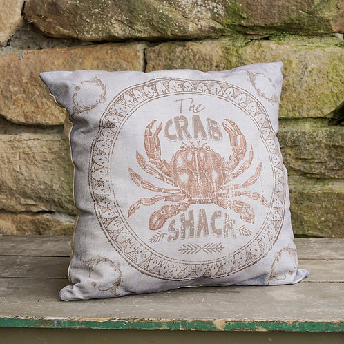 Sanibel Collection- crab shack throw pillow