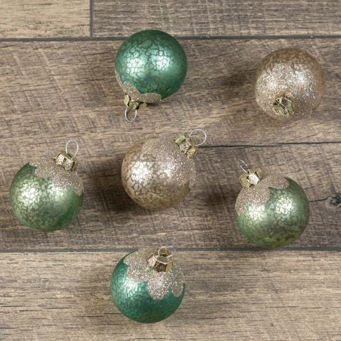 Holly Jolly Collection- glass ball ornament set