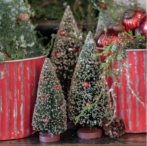 Winter Wonderland Collection- Christmas bottlebrush trees