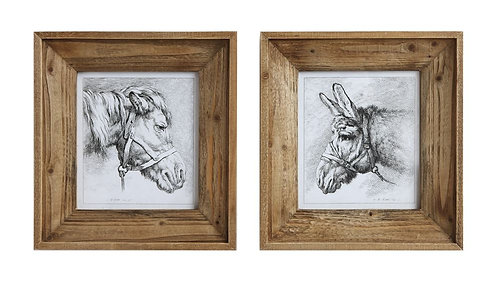 Loxahatchee Collection - framed donkey prints