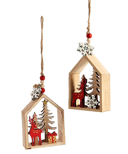 Nordic Collection- woodland scene ornaments