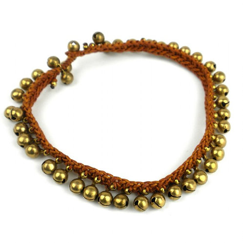 Miami Collection - brass bell anklet